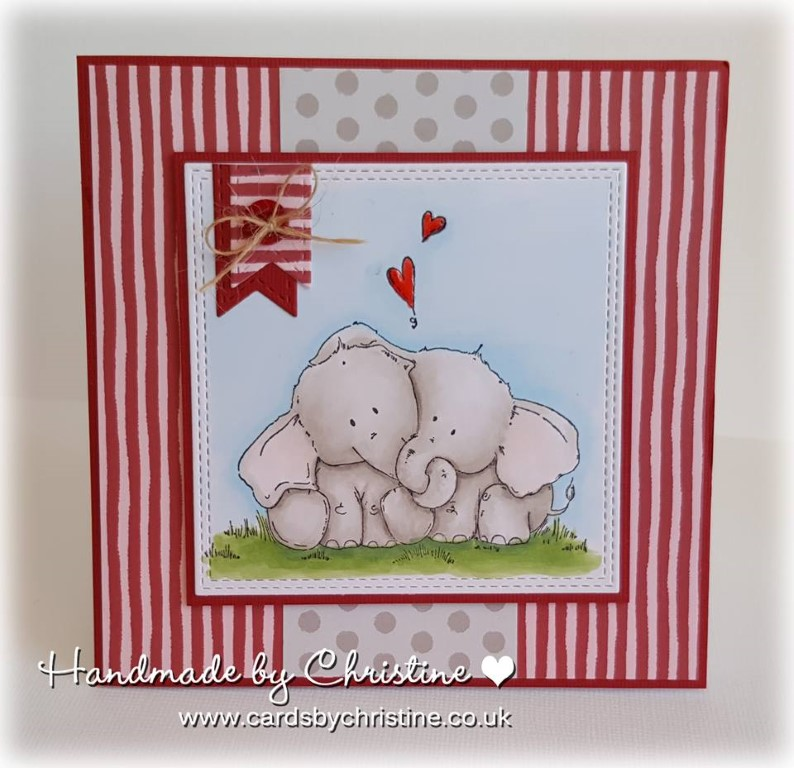Bellarific Friday with Stamping Bella - Stamp used ELLIE LOVES PHANT. Card made by Christine Levison