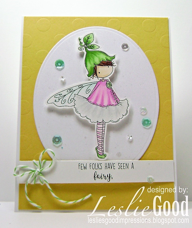 Stamping Bella SUMMER 2017 RELEASE- RUBBER STAMP : TINY TOWNIE fairy garden fairy and fairy sign . Card by Leslie Good