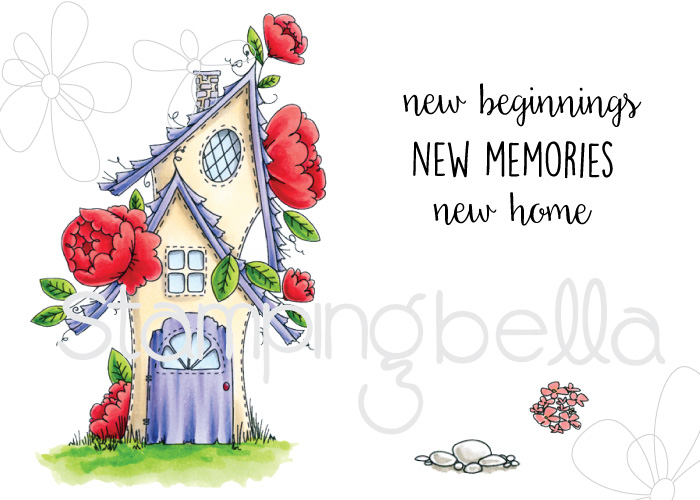 Stamping Bella SUMMER 2017 RELEASE- RUBBER STAMP : TINY TOWNIE FAIRY GARDEN HOUSE