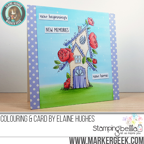 Stamping Bella SUMMER 2017 RELEASE- RUBBER STAMP : TINY TOWNIE fairy garden house Card by Elaine Hughes