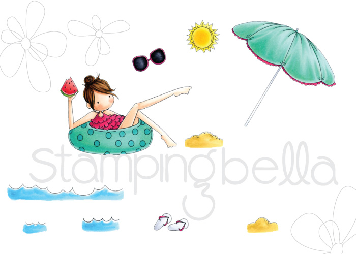 Stamping Bella SUMMER 2017 RELEASE- RUBBER STAMP : TINY TOWNIE FRANCES LOVES TO FLOAT.