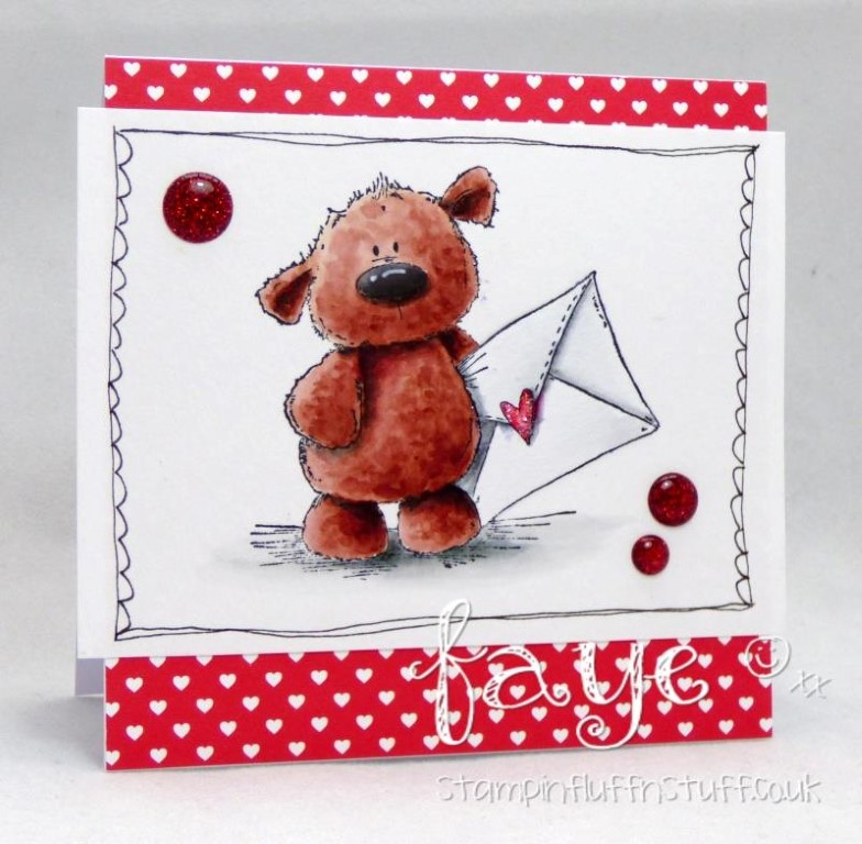 Bellarific Friday with Stamping Bella!- Rubber stamp used: HARRY loves HAPPY MAIL.  card by Faye Wynn Jones