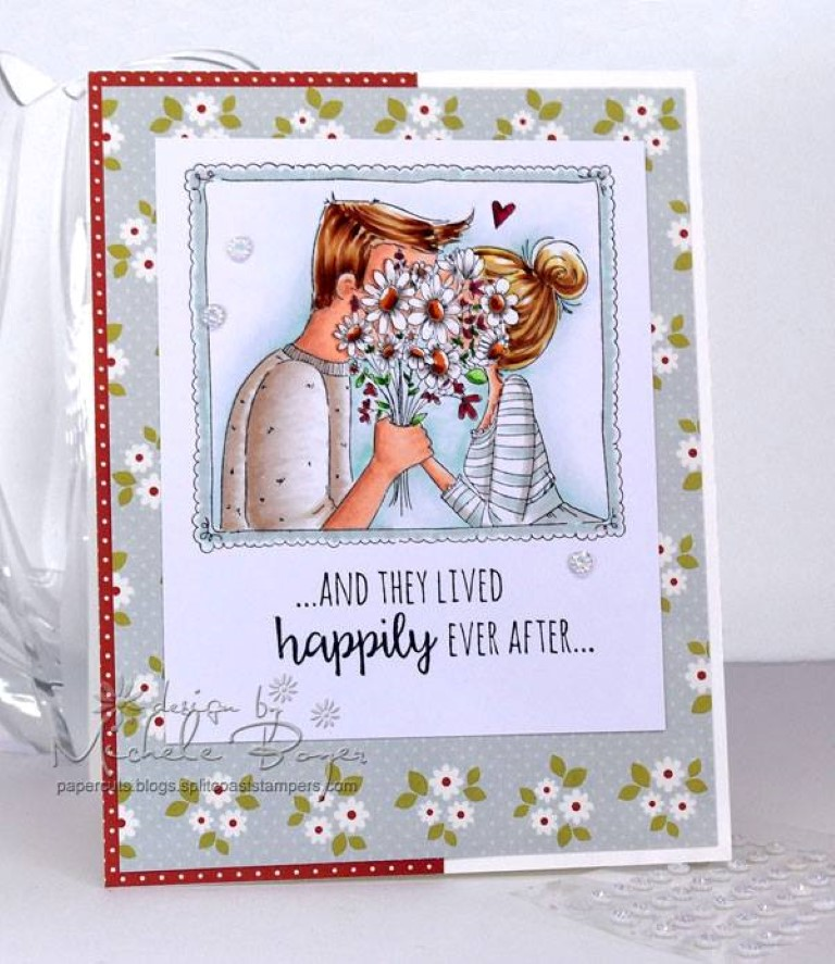 Bellarific Friday with Stamping Bella!- Rubber stamp used: CLOSEUPS-IN LOVE.  card by MICHELE BOYER