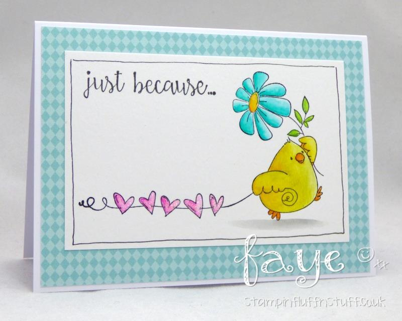 Bellarific Friday June 23 2017- Rubber stamp: MARCHING CHICKS.  Card by Faye WYNN-JONES