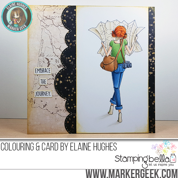 Stamping Bella SUMMER 2017 RELEASE- RUBBER STAMP : UPTOWN GIRL MELINDA has a MAP card by Elaine Hughes