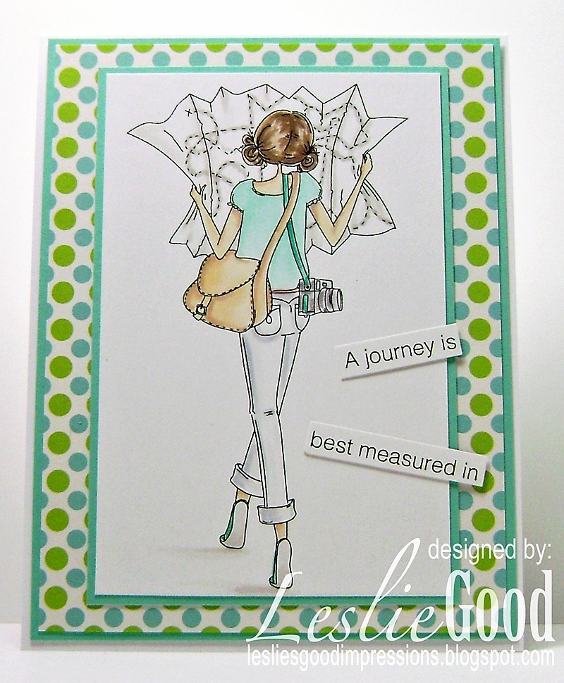 Stamping Bella SUMMER 2017 RELEASE- RUBBER STAMP : UPTOWN GIRL MELINDA has a MAP card by Leslie Good