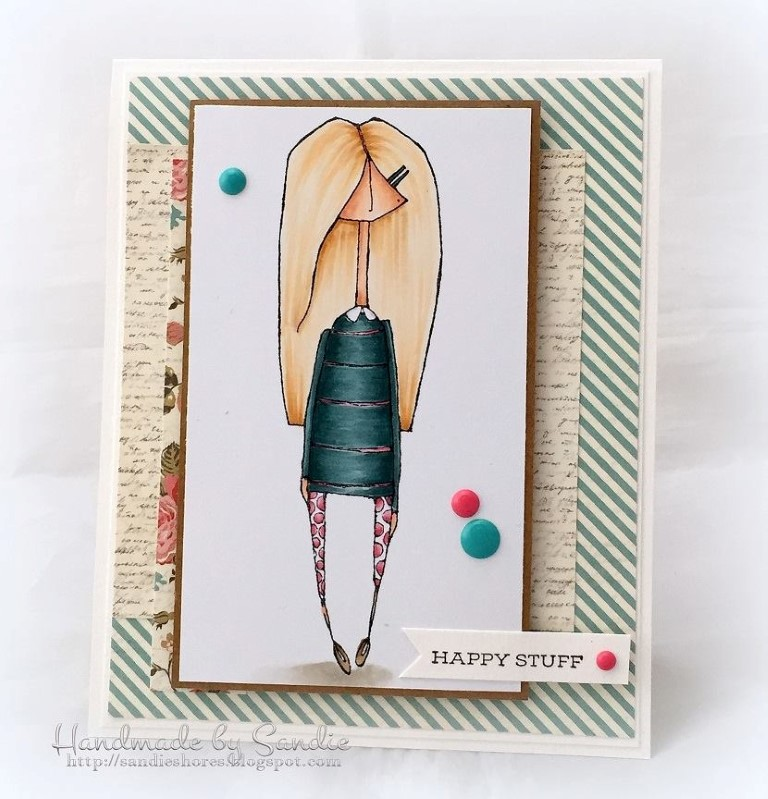 bellarific friday with Stamping Bella- rubber stamp used: MOSTLYNAOMI card made by Sandie Dunne