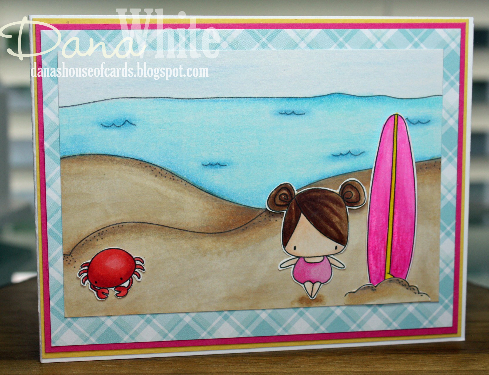 Stamping Bellar RELEASE PREVIEW SUMMER 2017- RUBBER STAMPS- THE LITTLES SURFER SET card by DANA WHITE