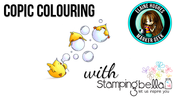 Stamping Bella - Marker Geek Monday - Colouring Bubble Chicks (with video)