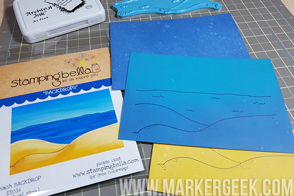 Stamping Bella Stamp It Saturday: Ways to Colour Our New Backdrop Stamps!