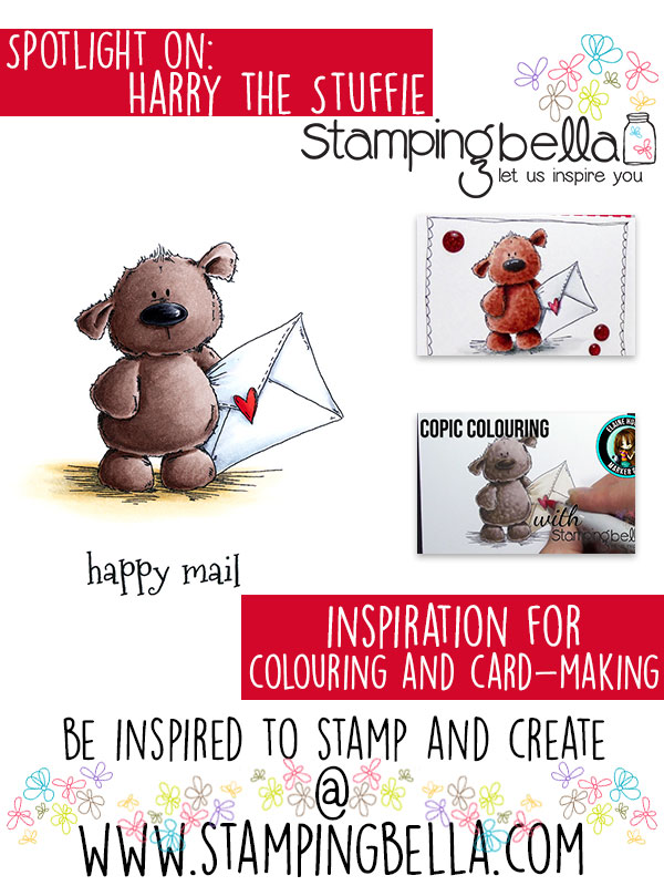 Stamping Bella Spotlight On Harry the Stuffie Gets Happy Mail (with colouring video)