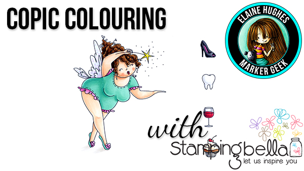 Stamping Bella Marker Geek Monday Copic Colouring Edna the Everything Fairy with video