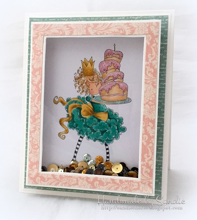 Bellarific Friday with Stamping Bella- rubber stamp used: TINY TOWNIE BREE LOVES BUTTERCREAM card made by SANDIE DUNNE