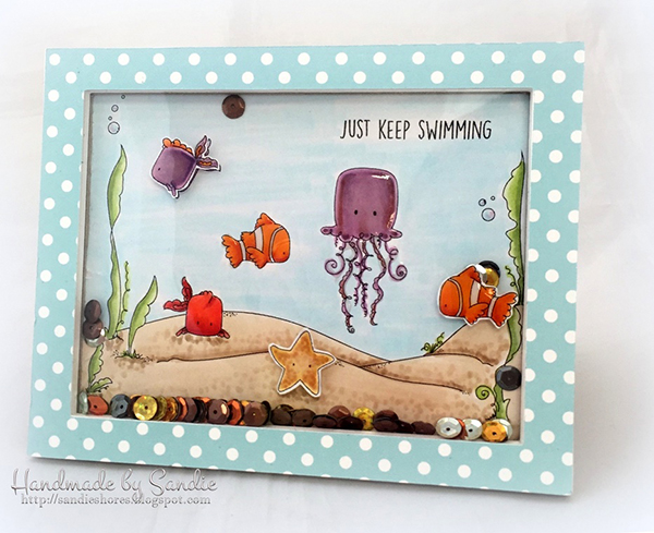 Stamping Bella DT Thursday Create an Under the Sea Shaker Card with Sandiebella!