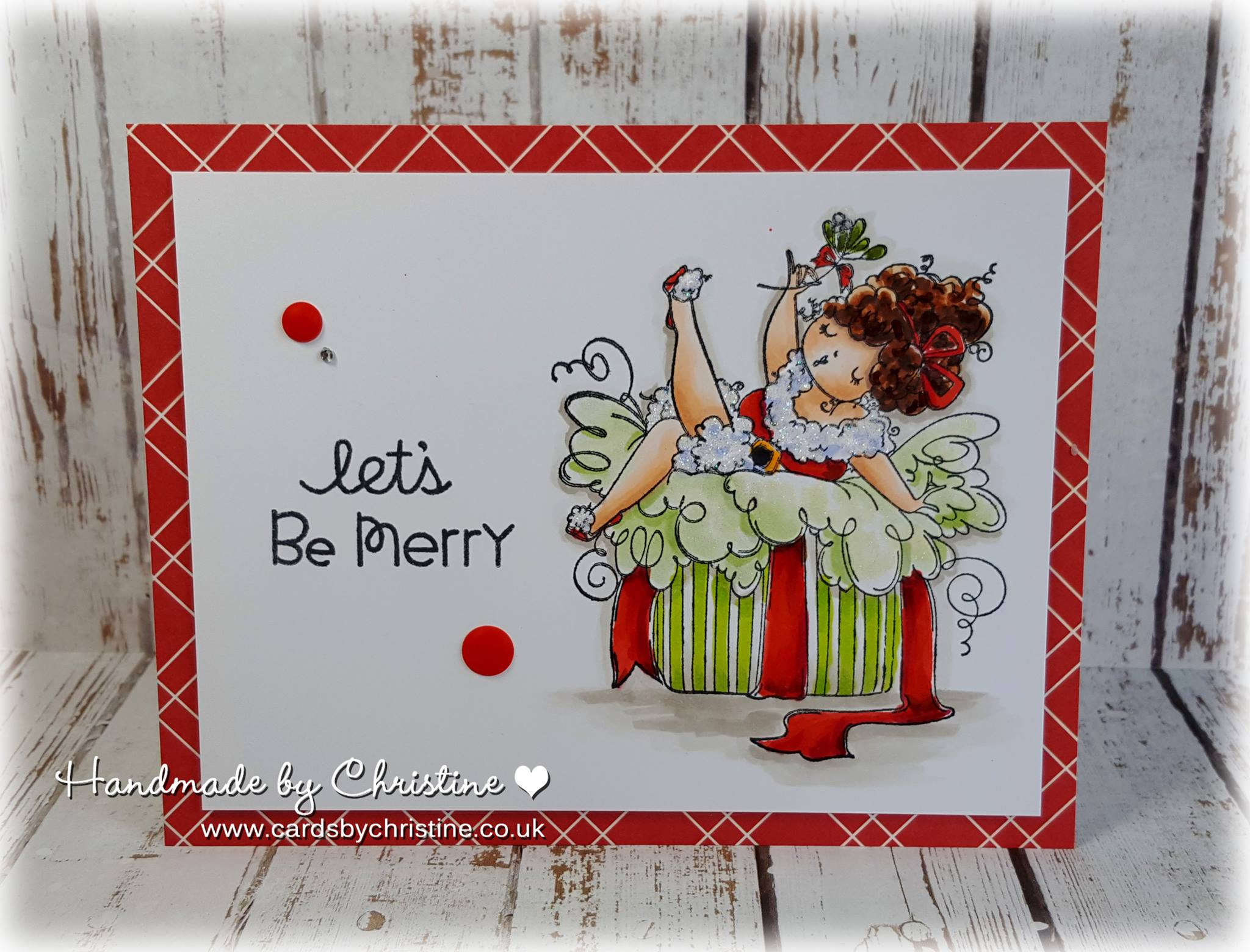 Bellarific Friday July 21st 2017- rubber stamp used on card: EDNA under the MISTLETOE , created by Christine Levison
