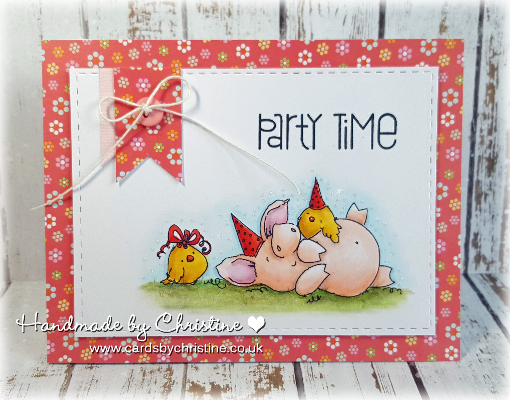 Bellarific Friday with stamping bella. Stamp usedL PETUNIA HAS A PARTY. Card by Christine Levison