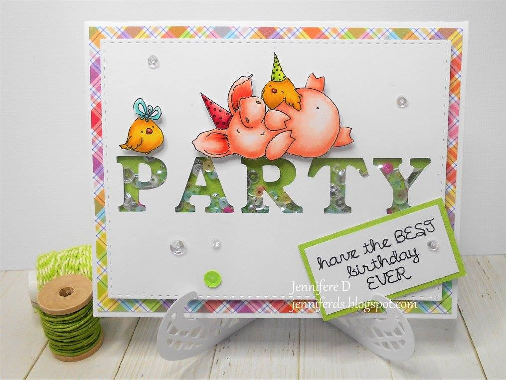 Bellarific Friday with stamping bella. Stamp usedL PETUNIA HAS A PARTY. Card by Jenny Dix