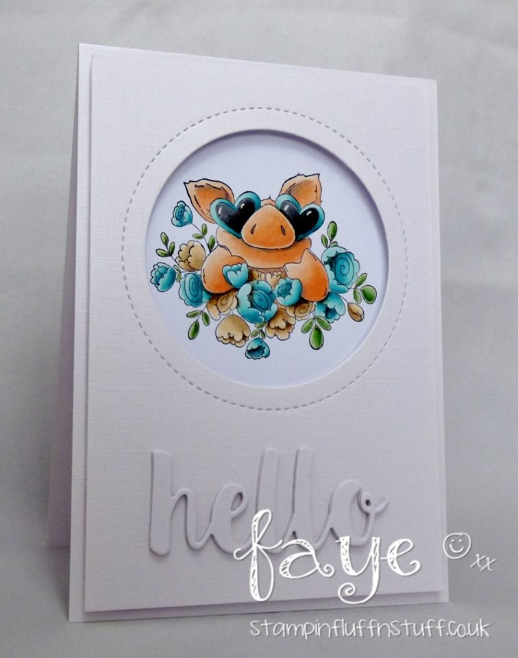 Bellarific Friday Challenge with Stamping Bella- Rubber stamps used:Petunia's in LOVE Card made by Faye Wynn Jones