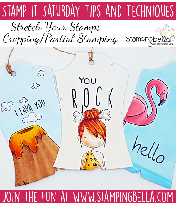 Stamping Bella Stamp It Saturday Stretch Your Stamps with Cropping or Partial Stamping