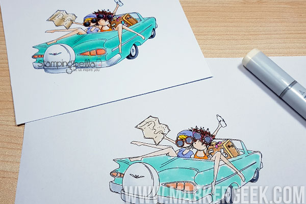 Marker Geek Monday Planning Your Colouring with Utown Girls Thelma & Louise Colouring Video