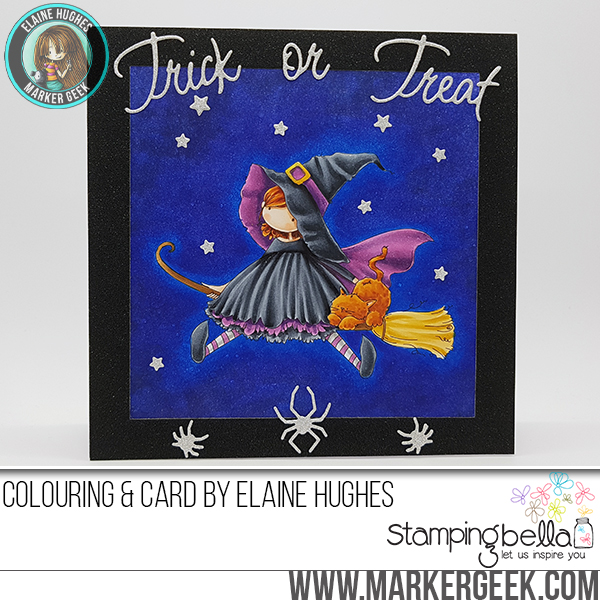 Stamping Bella SNEAK PEEK DAY 1- STAMPS USED: Tiny Townie HATTIE loves HALLOWEEN card by Elaine Hughes