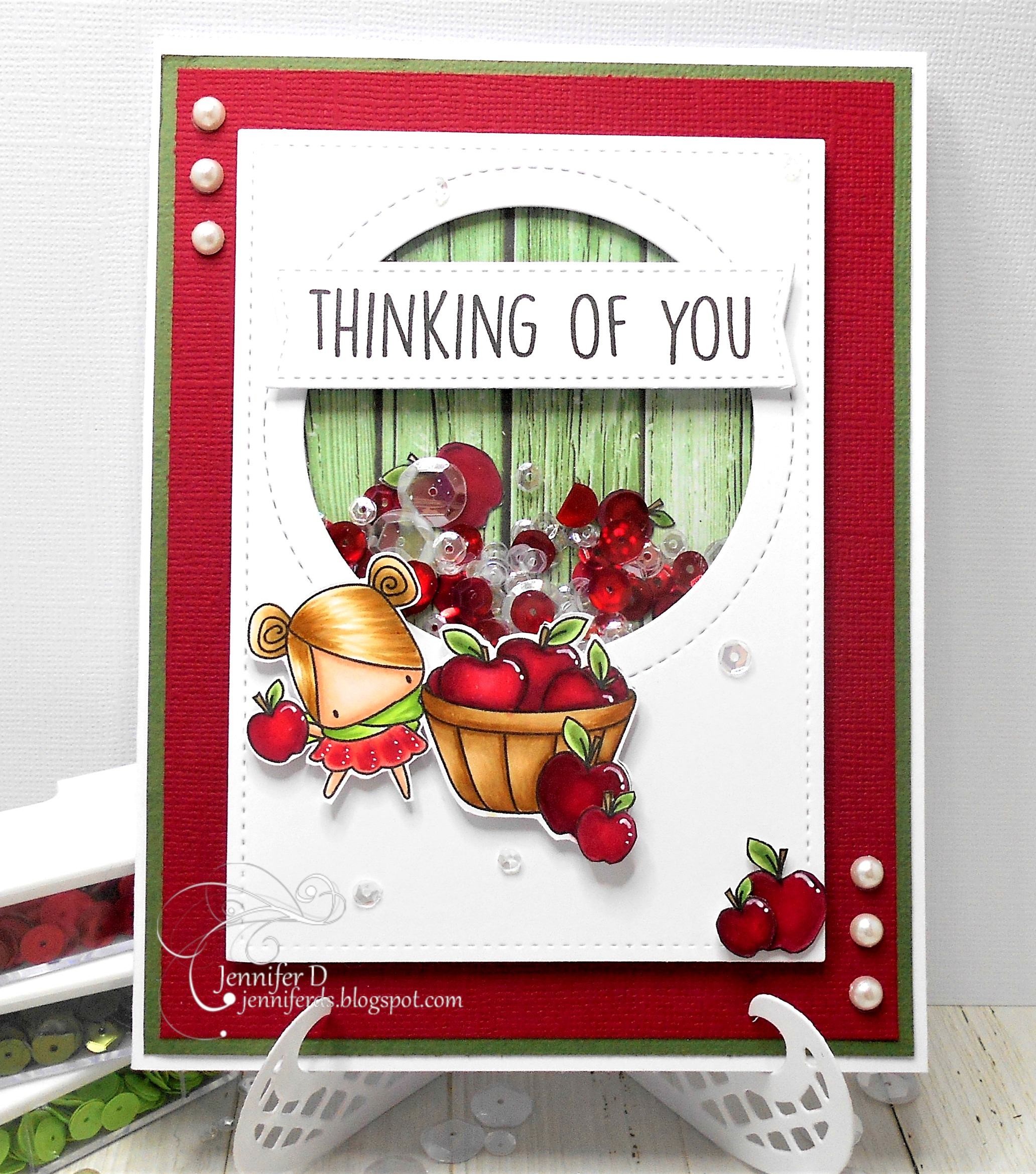 Stamping Bella SNEAK PEEK DAY 1- STAMPS USED: FALL SENTIMENT SET and THE LITTLES APPLE PICKING. Card by Jenny DIX