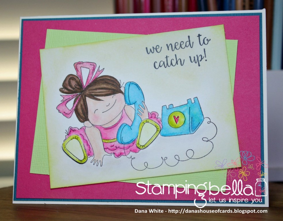 bellarific friday with Stamping Bella AUG 18 2017- rubber stamp used: CHATTY SQUIDGY, card by DANA WHITE