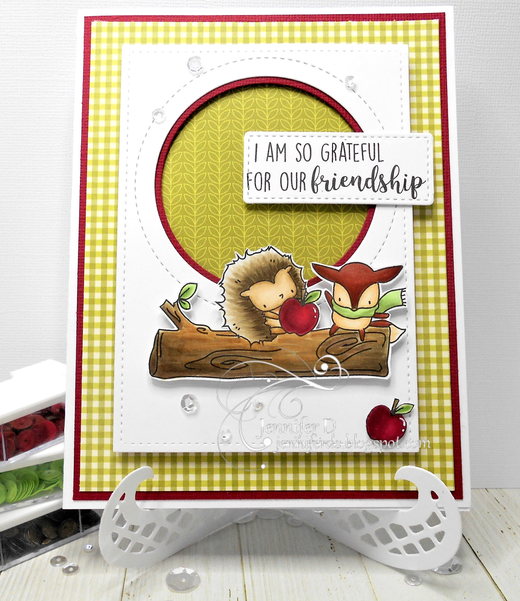 Stamping Bella SNEAK PEEK DAY 2 : THE LITTLES HEDGIE and FOXY RUBBER STAMP card by JENNY DIX