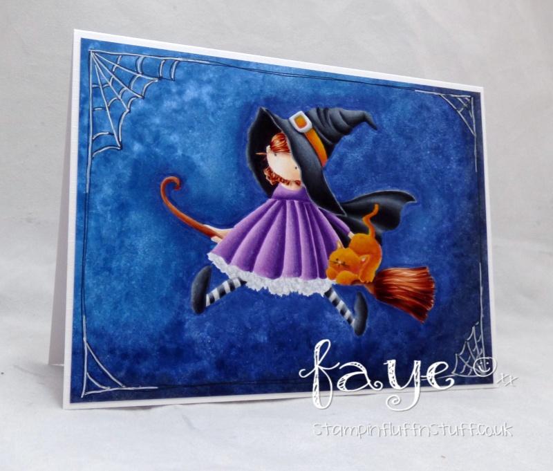 Stamping Bella SNEAK PEEK DAY 1- STAMPS USED: Tiny Townie HATTIE loves HALLOWEEN card by Faye Wynn Jones