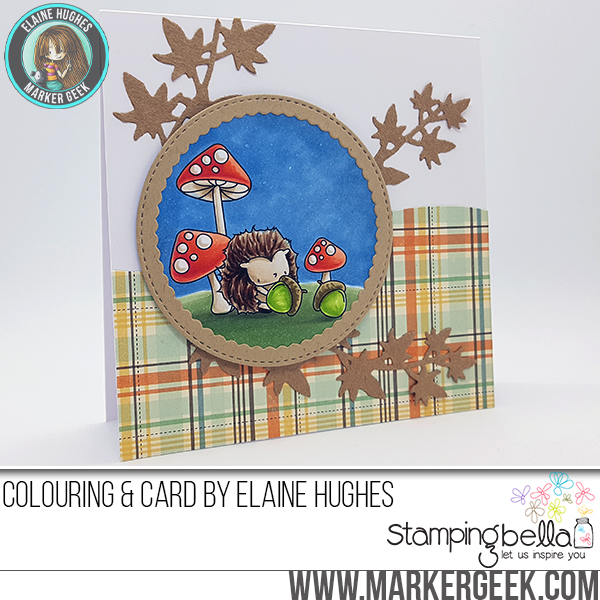 Stamping Bella SNEAK PEEK DAY 2 : THE LITTLES HEDGIE and his ACORNS CARD by : ELAINE HUGHES