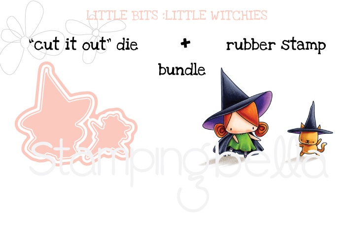 STAMPING BELLA SNEAK PEEK DAY 3- LITTLE BITS LITTLE WITCHIES BUNDLE
