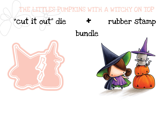 Stamping Bella HALLOWEEN/FALL RELEASE 2017: LITTLES Pumpkin with a WITCHY on top BUNDLE