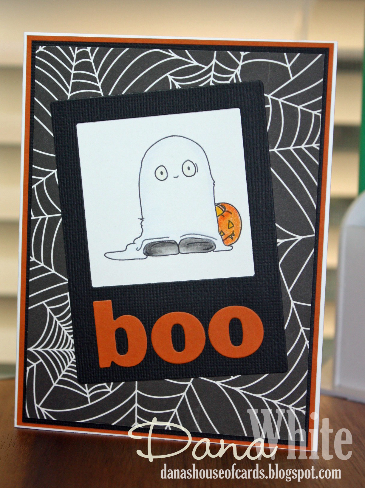 Stamping Bella SNEAK PEEK day 4- SQUIDGY GHOST, witchy TRICK OR TREATER card by DANA WHITE