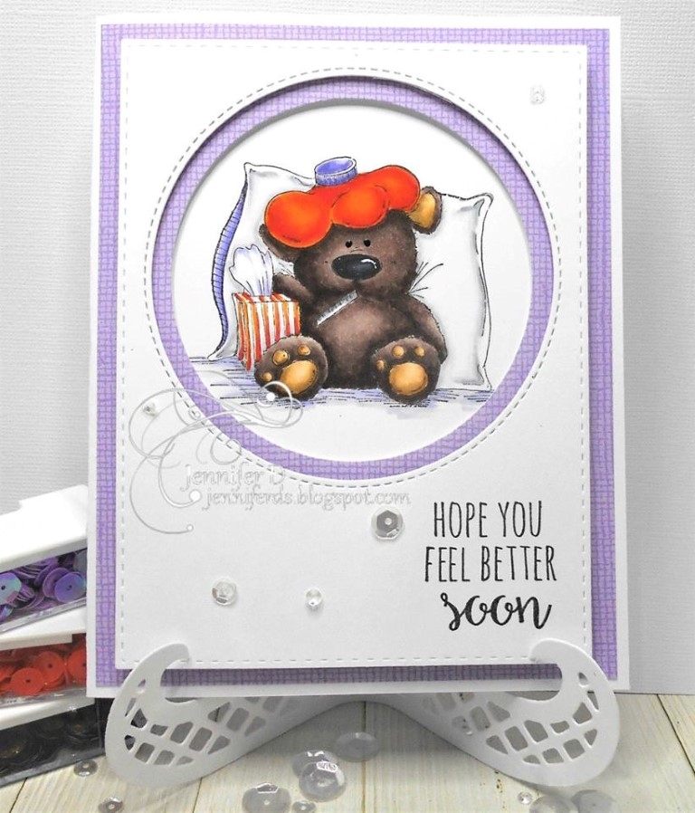bellarific friday with Stamping Bella AUG 18 2017- rubber stamp used: STUFFY STUFFIE, card by JENNY DIX