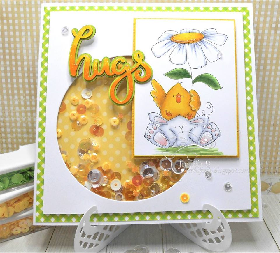 Bellarific Friday with Stamping Bella- rubber stamp used:  the CHICK and the BUNNY WOBBLE, card made by Jenny DIX