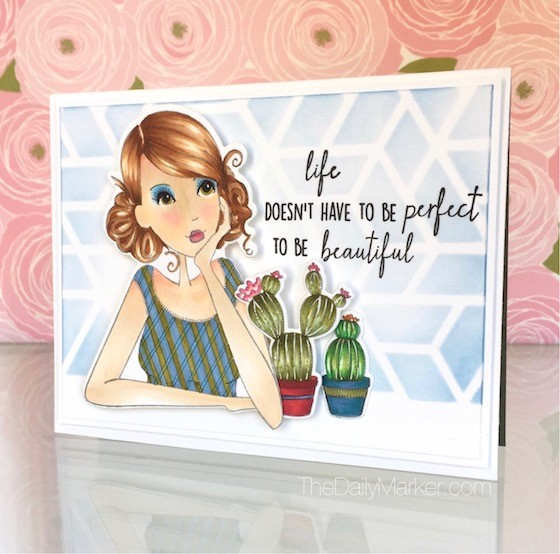 design team thursday with Stamping Bella- Stamps used:  Thinkingofyouabella and CACTI.  Project by KATHY RACOOSIN
