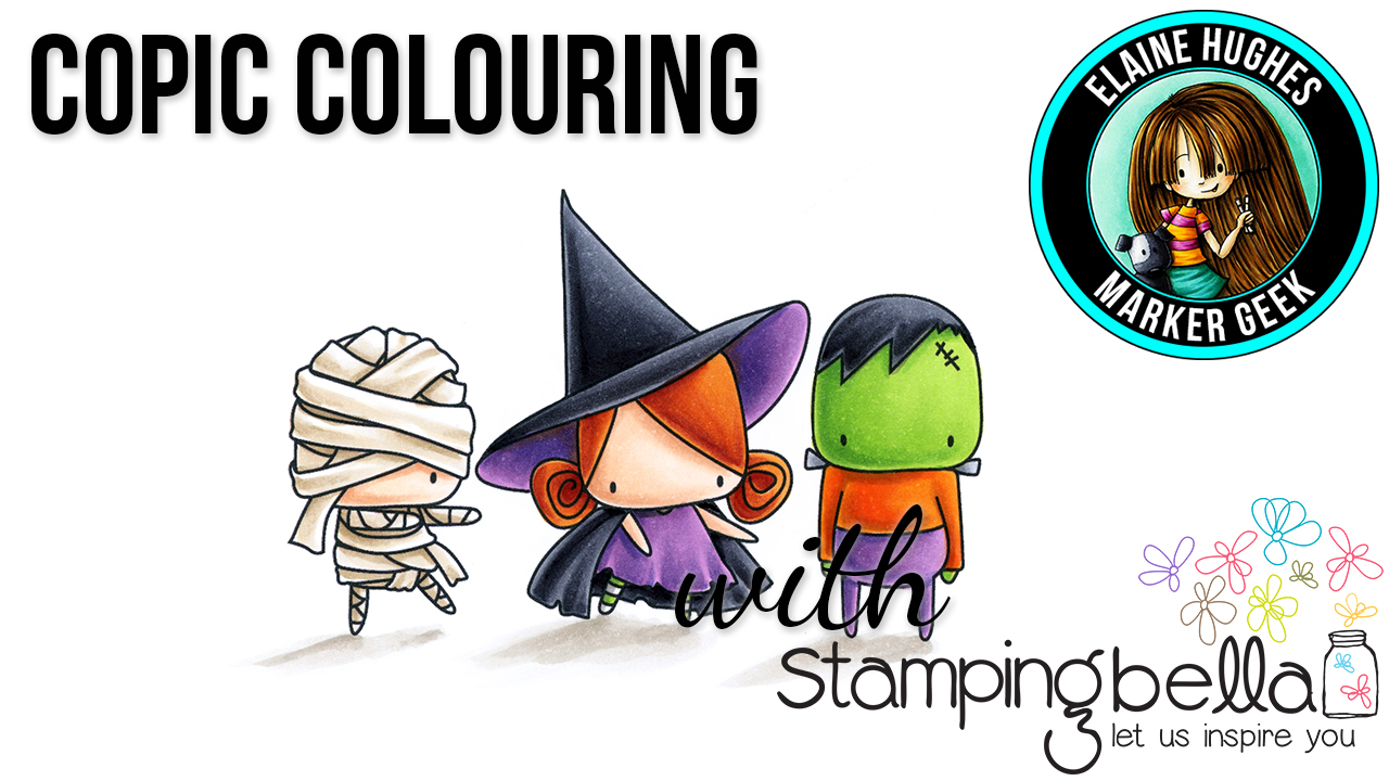 Stamping Bella Marker Geek Monday: Littles Frankie, Witchy & Mummy Colouring Video & Tips