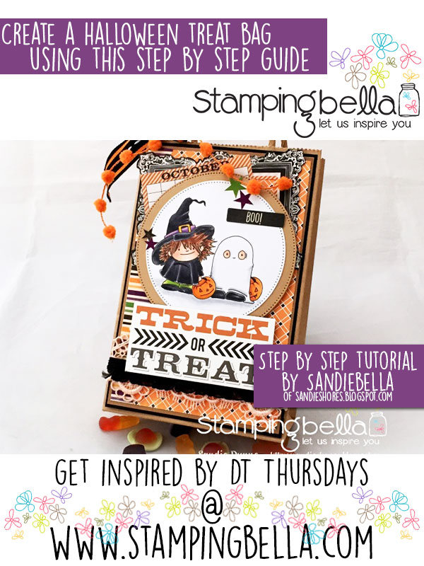 Stamping Bella DT Thursday: Create a Halloween Treat Bag with Sandiebella!