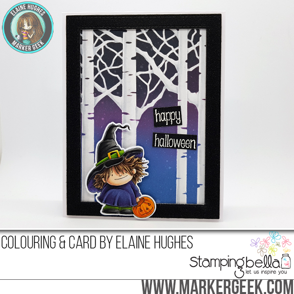 Stamping Bella -Marker Geek Monday: Create Eye-Catching Stencil Backgrounds Two Ways with Elaineabella