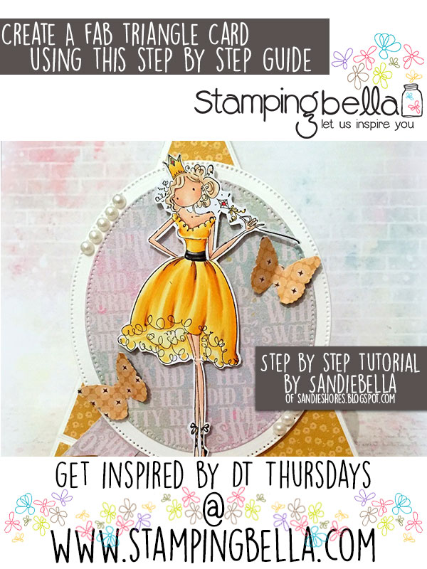 Stamping Bella DT Thursday: Make a Triangle Card with Sandiebella