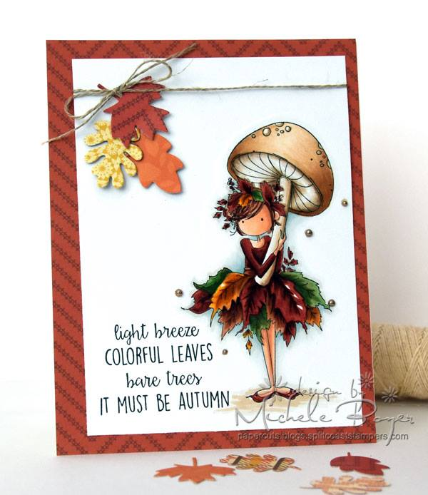 bellarific friday SEPTEMBER 1st 2017 rubber stamp: TINY TOWNIE AUTUMN LOVES AUTUMN. CARD BY Michele Boyer