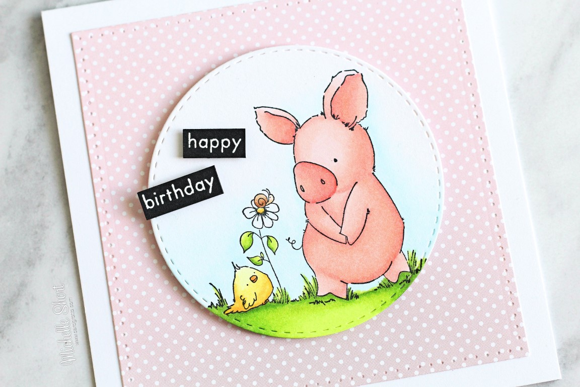 wonderful wednesdays with Stamping Bella- RUBBER STAMP USED: ESPECIALLY FOR YOU PETUNIA, CARD BY MICHELLE SHORT