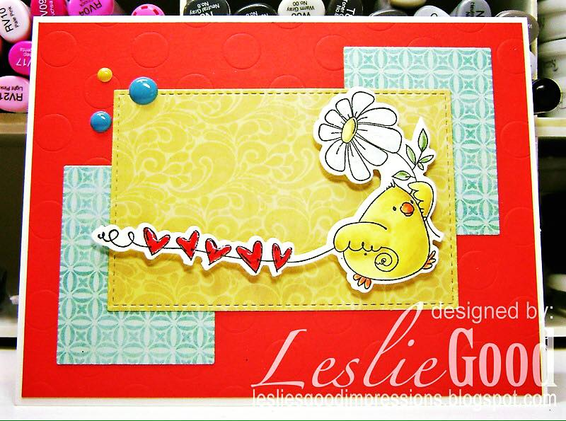 stampingbella BELLARIFIC FRIDAY SEPT 8th 2017 - RUBBER STAMP: MARCHING CHICK, card by Leslie Good