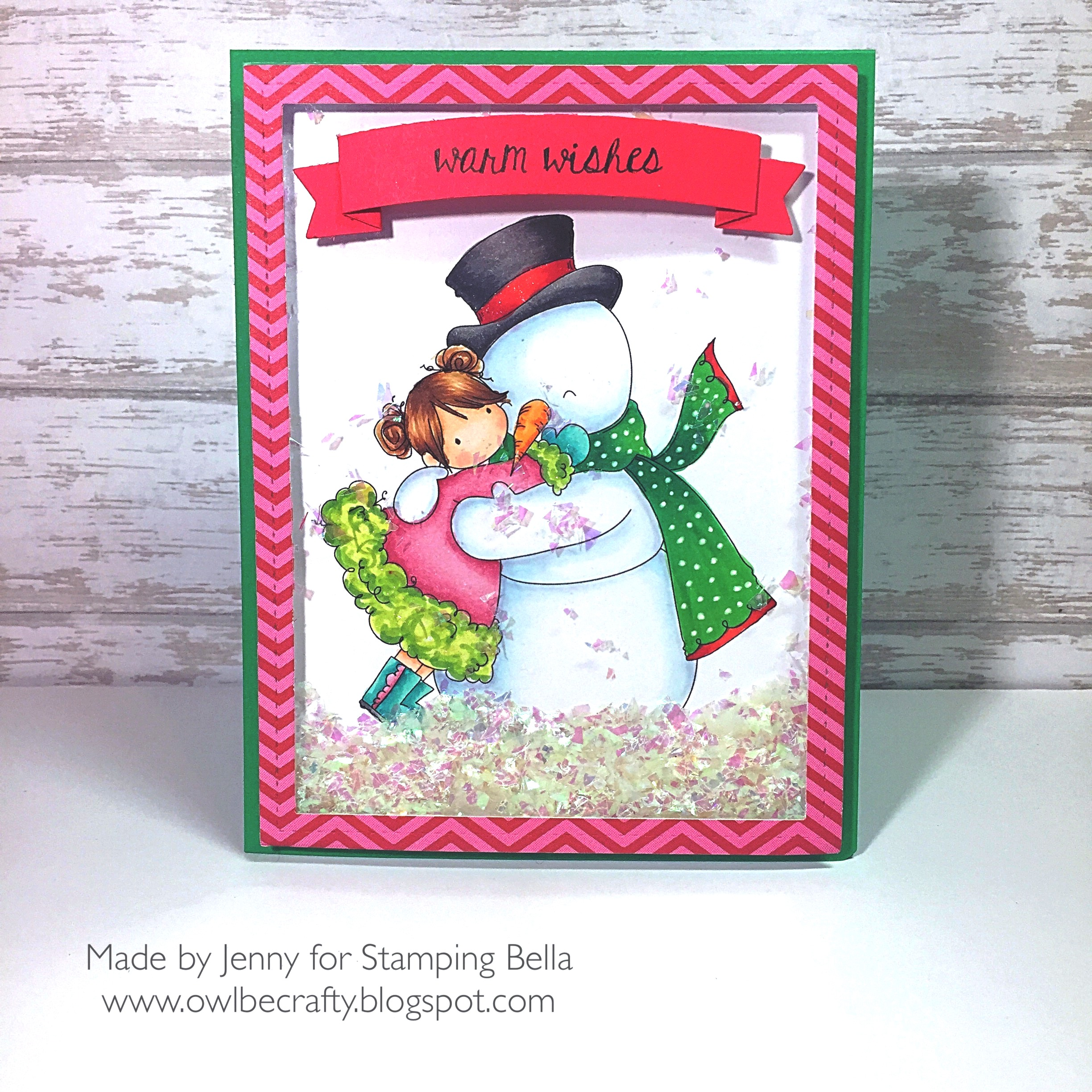 Stamping Bella RUBBER STAMPS: Stamps used: TINY TOWNIE FRIDA loves FROSTY. Card by Jenny Bordeaux