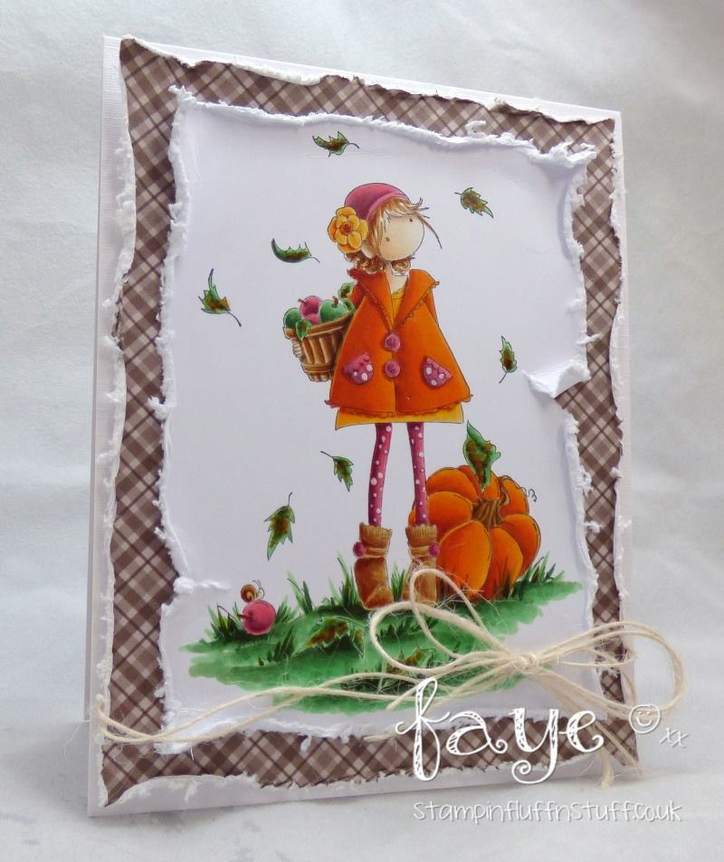 stamping bella rubber stamps: tiny townie FAYE loves fall, card by FAYE WYNN JONES
