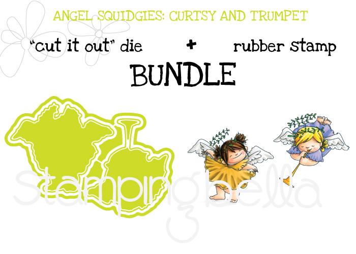 STAMPING BELLA BUNDLE: ANGEL SQUIDGIES CURTSY AND TRUMPET