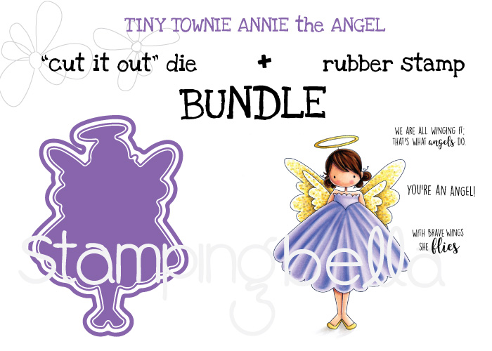 Stamping Bella WINTER/CHRISTMAS 2017 SNEAK PEEK- BUNDLE NAME:TINY TOWNIE ANNIE the ANGEL