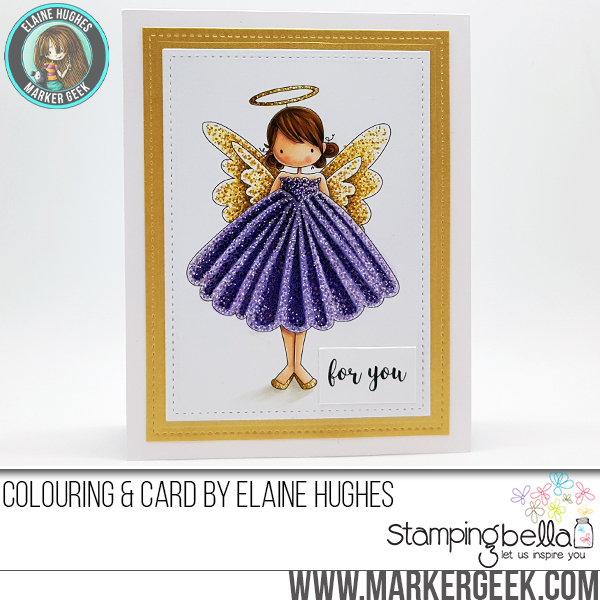 Stamping Bella WINTER/CHRISTMAS 2017 RELEASE: RUBBER STAMP USED: Tiny Townie ANNIE the ANGEL, card by Elaine Hughes