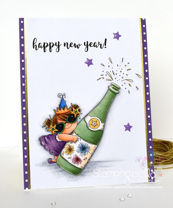 Stamping Bella RUBBER STAMPS: Stamps used: CELEBRATING SQUIDGY. Card by Michele Boyer