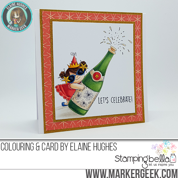 Stamping Bella RUBBER STAMPS: Stamps used: CELEBRATING SQUIDGY. Card by Elaine Hughes